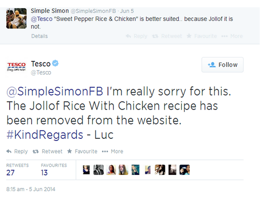 tweets about tesco