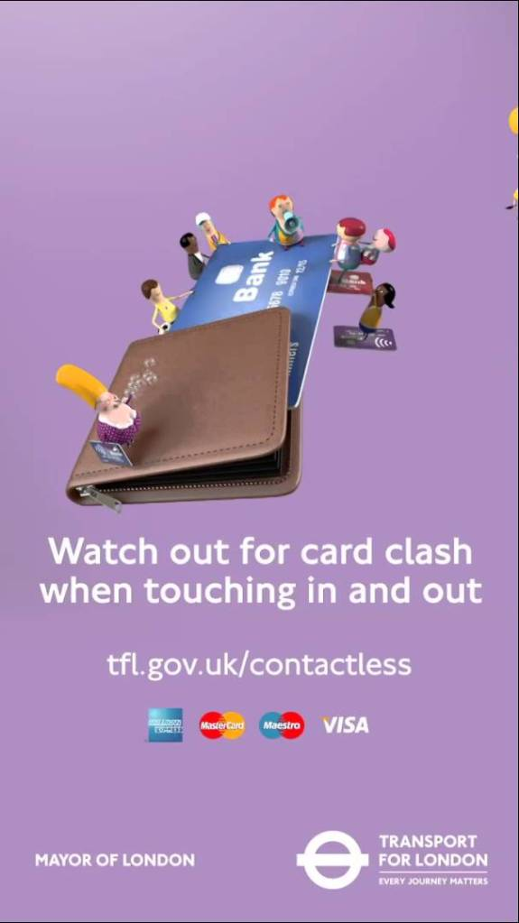 TFL uses strange looking peple to explain card clash
