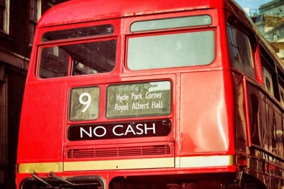 cashless buses london