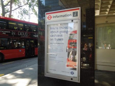 cashless buses publicity