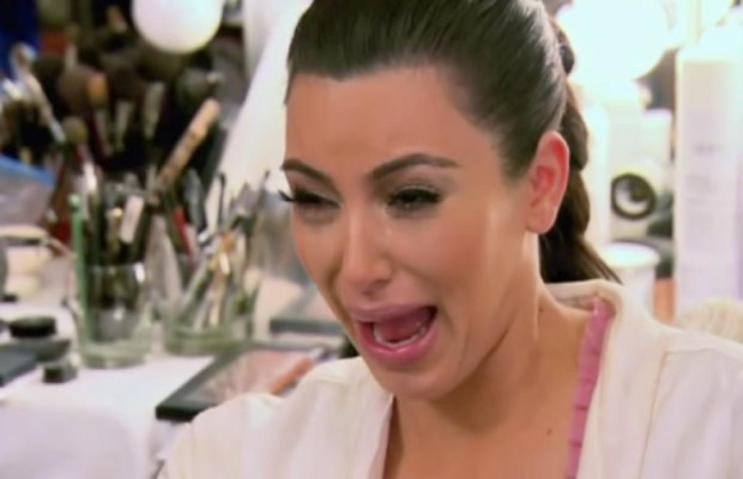 kim kardashian crying funny