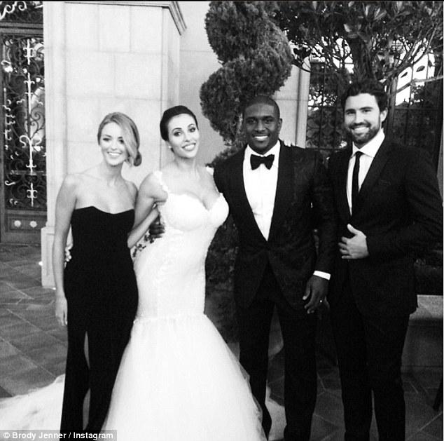 kim kardashian step brother brody jenner reggie bush wedding