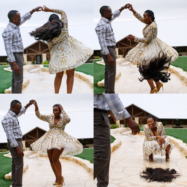 womans wig falls off pre wedding photo shoot